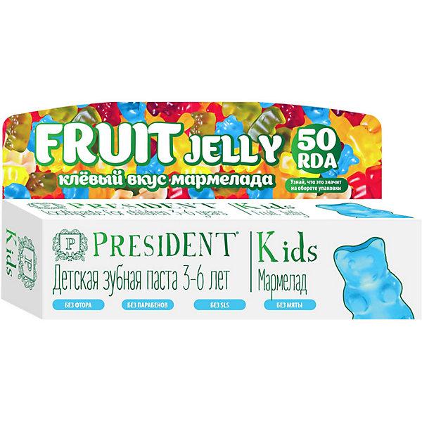 Купить Зубная паста President Kids Fruit Jelly 3-6 лет, 50 мл, Россия, Унисекс