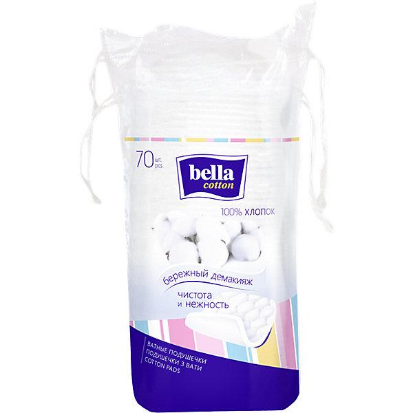 Ватные подушечки Bella квадратной формы, 70 шт
