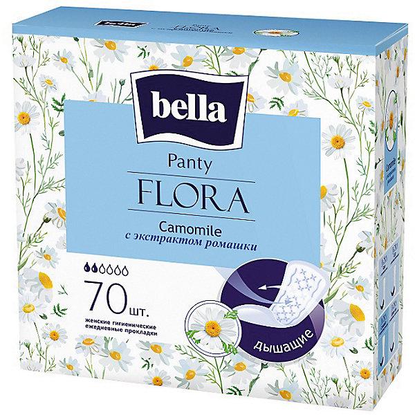 Ежедневные прокладки Bella Panty Flora Camomile 70 шт, с экстрактом ромашки