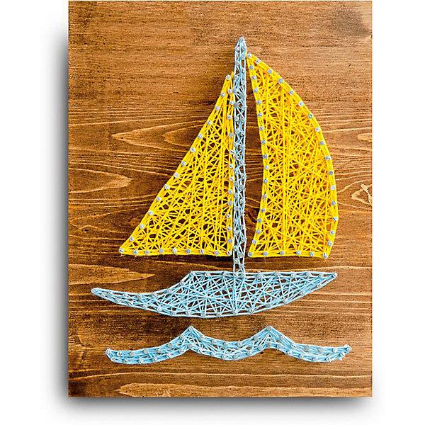 Купить Набор для творчества String Art Lab Кораблик, 30х21 см, Россия, Унисекс