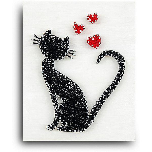 Купить Набор для творчества String Art Lab Кошка, 30х21 см, Россия, Унисекс