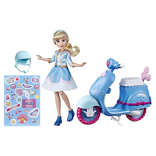 Hasbro Игровой набор с куклой Disney Princess Comfy Squad Золушка на скутере hasbro disney princess e4020 e4158 кукла золушка