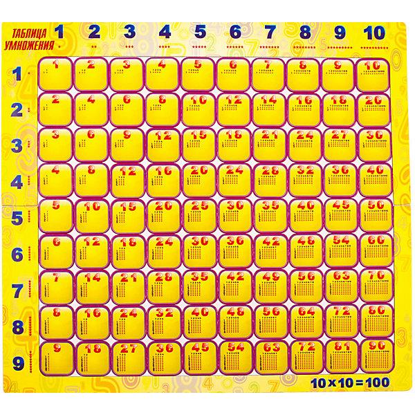 Геомагнит Магнитный пазл Геомагнит Таблица умножения, 92 элемента пазлы геомагнит магнитный пазл дроби в коробке
