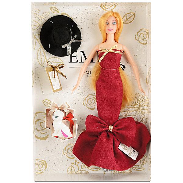 Купить Кукла Qian Jia Toys Бордо: девушка с котенком, 28 см, Китай, Женский