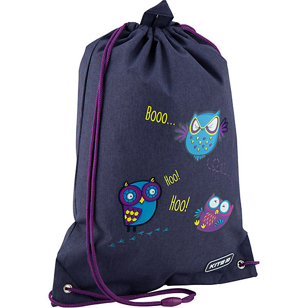 Купить Мешок для обуви Kite Owls, Китай, темно-синий, Женский