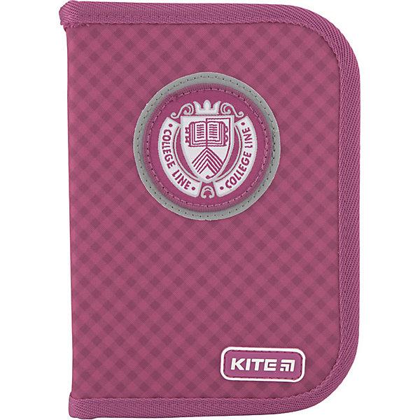 Купить Пенал Kite College line p, без наполнения, Китай, розовый, Женский