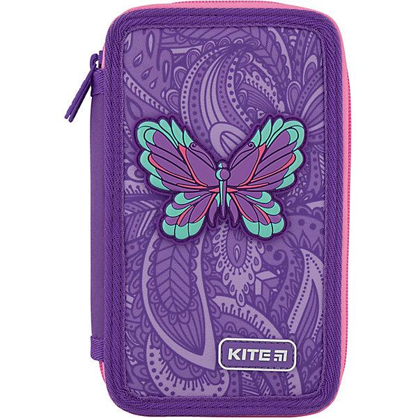 Купить Пенал Kite Flowery, без наполнения, Китай, фиолетовый, Женский