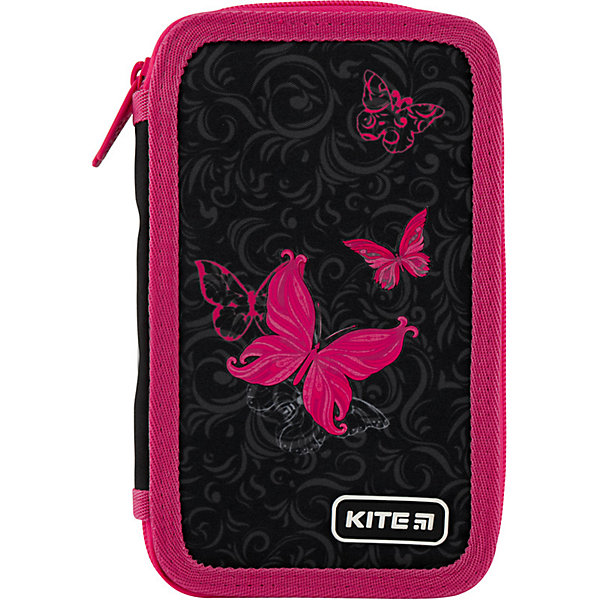 Купить Пенал Kite Butterfly Tale, без наполнения, Китай, черный, Женский