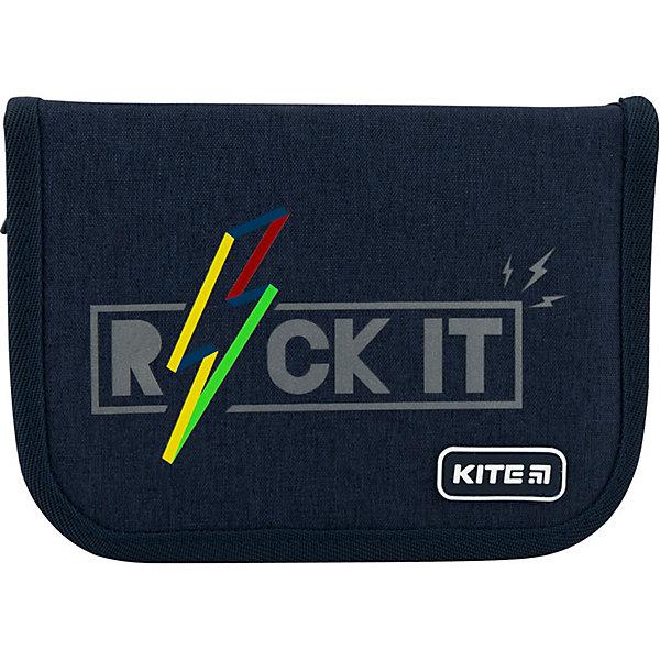 Купить Пенал Kite Rock it, без наполнения, Китай, темно-синий, Мужской