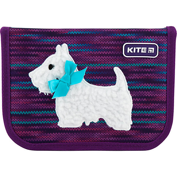 Купить Пенал Kite Cute puppy, без наполнения, Китай, фиолетовый, Женский
