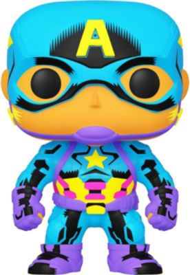 Funko POP! Фигурка Funko POP! Bobble: Marvel: Black Light: Капитан Америка, 48845 фигурка funko pop captain marvel мария рамбо 37585