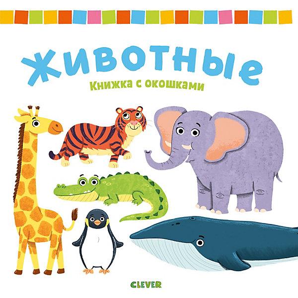 Clever Книжка с окошками Животные clever книжка с окошками университет для детей у моря макьюэн к