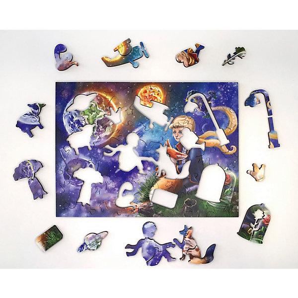 Нескучные игры Фигурный пазл Нескучные игры Страна сказок. Маленький принц, 24х18 см нескучные игры зоопазл нескучные игры букашки 17 деталей
