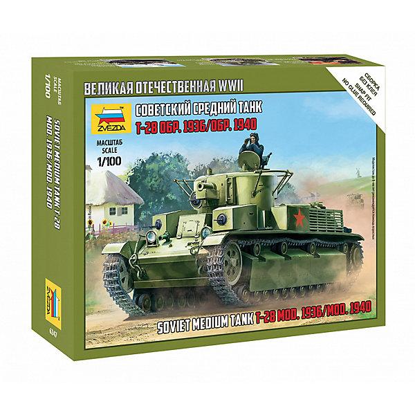 Звезда Сборная модель Звезда Советский легкий танк Т-28 россия звезда ольга с хр