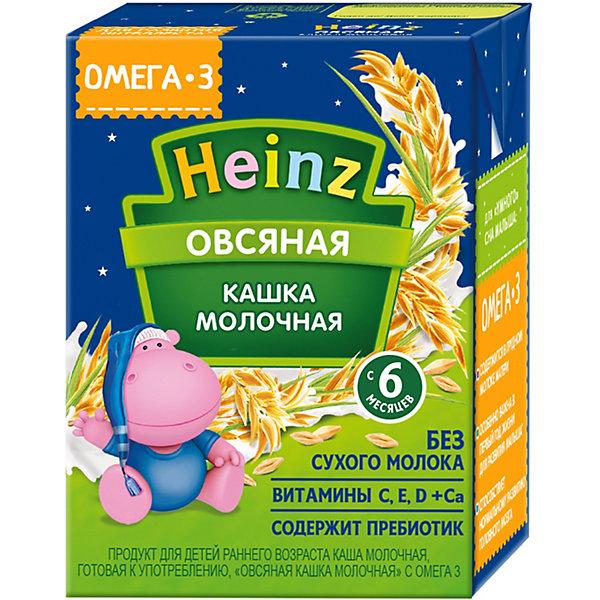 Купить Жидкая каша Heinz молочная овсяная, с 6 мес, 12 шт по 200 г, Россия, Унисекс