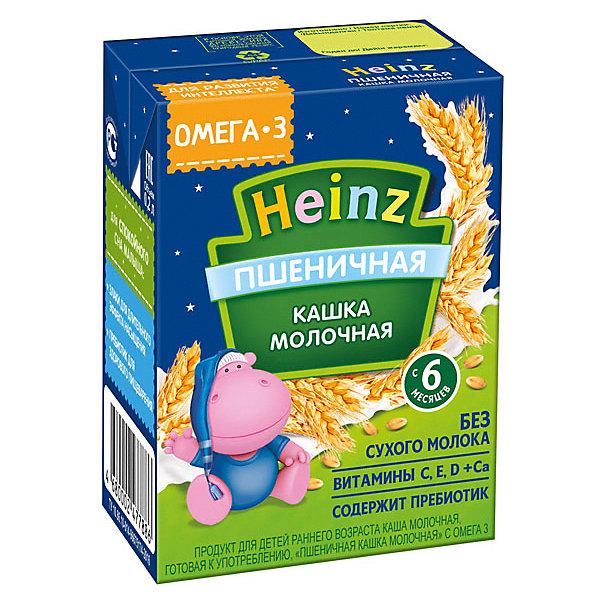 Купить Жидкая каша Heinz молочная пшеничная, с 6 мес, 12 шт по 200 г, Россия, Унисекс