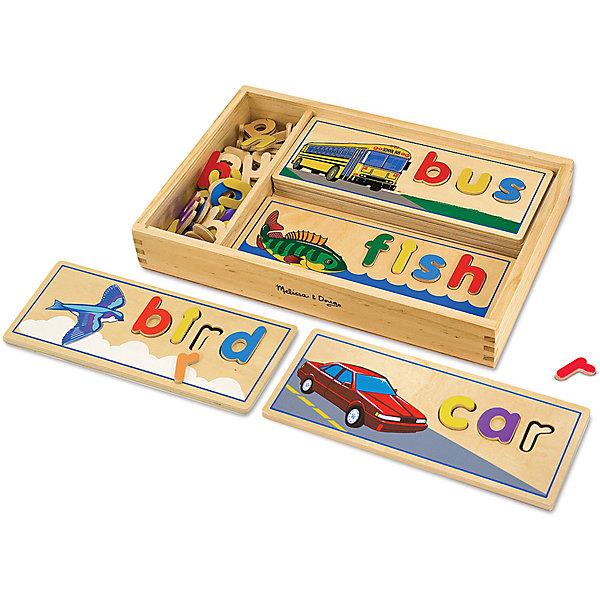 Купить Подбор букв по картинкам Melissa&Doug Классические игрушки на английском языке, Melissa & Doug, США, разноцветный, Унисекс