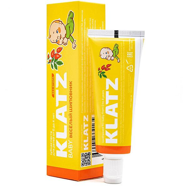 Купить Зубная паста для детей Klatz Baby Весёлый шиповник, 48 мл, Россия, Унисекс