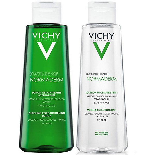 Vichy Сужающий поры лосьон и Мицеллярный лосьон Vichy Нормадерм Дуопак, 200 мл + 200 мл продукция vichy официальный сайт