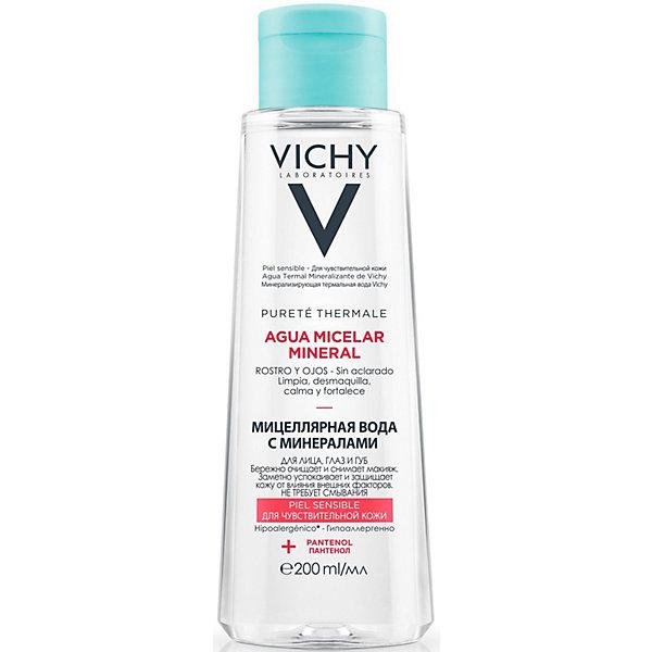 Купить Мицеллярная вода с минералами для чувствительной кожи Vichy, 200 мл, Франция, Унисекс