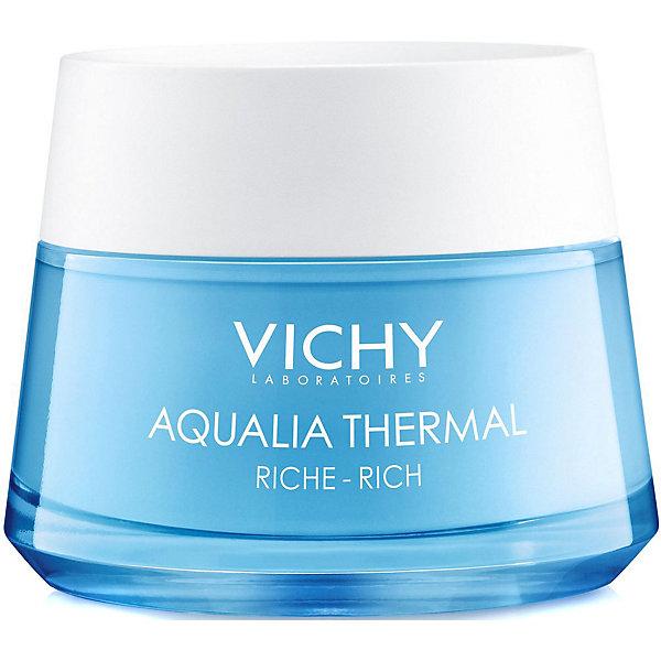Vichy Насыщенный крем для сухой и очень сухой кожи Vichy Aqualia Thermal, 50 мл vichy аквалия термаль легкий крем для нормальной кожи 30 мл vichy aqualia thermal