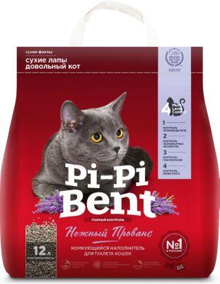Pi-Pi Bent Наполнитель для кошачьих туалетов Pi-Pi Bent Нежный прованс комкующийся, 5 кг комкующийся наполнитель pi pi bent классик 10 кг