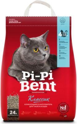 Pi-Pi Bent Наполнитель для кошачьих туалетов Pi-Pi Bent Classik комкующийся, 10 кг комкующийся наполнитель pi pi bent классик 10 кг