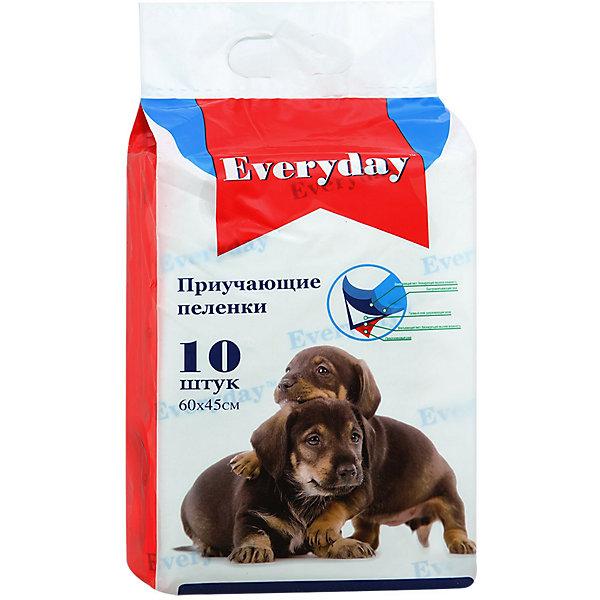 Купить Впитывающие пелёнки Everyday для животных 10 шт, 60х45 см, Китай, Унисекс