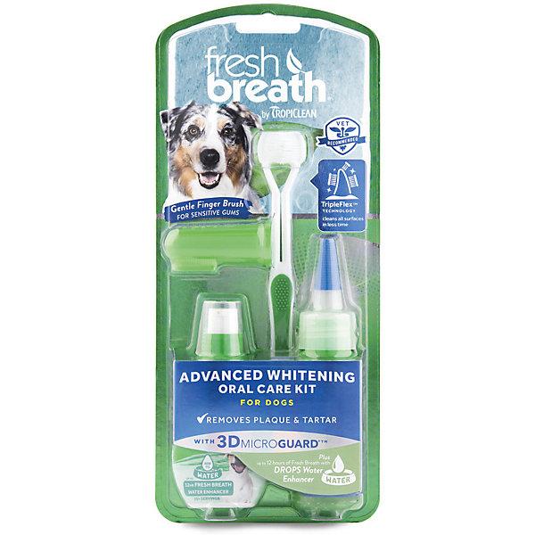 Купить Набор для ухода за зубами Тропиклин Свежее дыхание отбеливающий для собак, Tropiclean, США, Унисекс