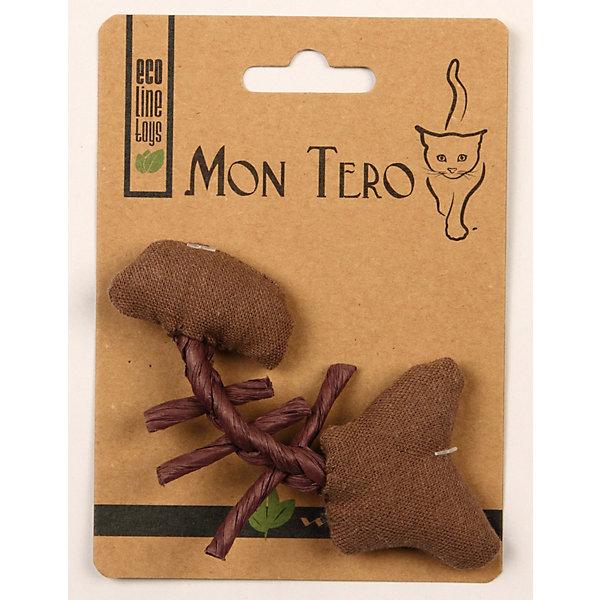 Игрушка для кошки Mon Tero Эко рыбья кость с кошачьей мятой, 11 см