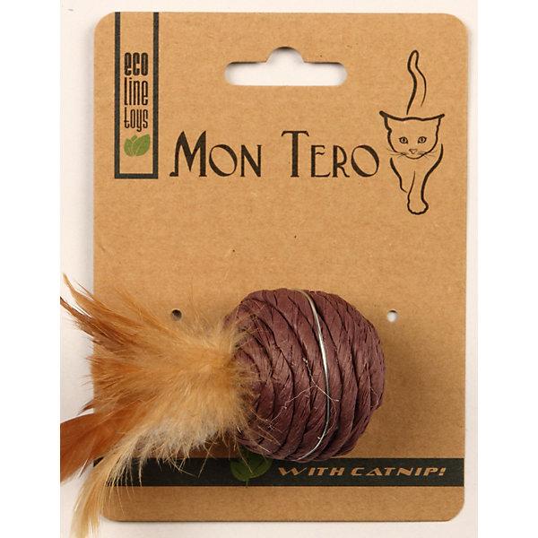 Игрушка для кошки Mon Tero Эко шарик с кошачьей мятой, 5 см