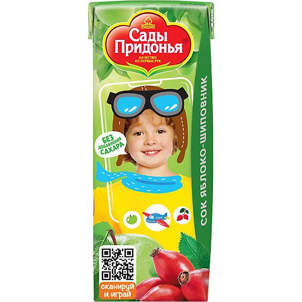 Сок Сады Придонья яблоко шиповник с 6 мес, 27 шт по 200 г