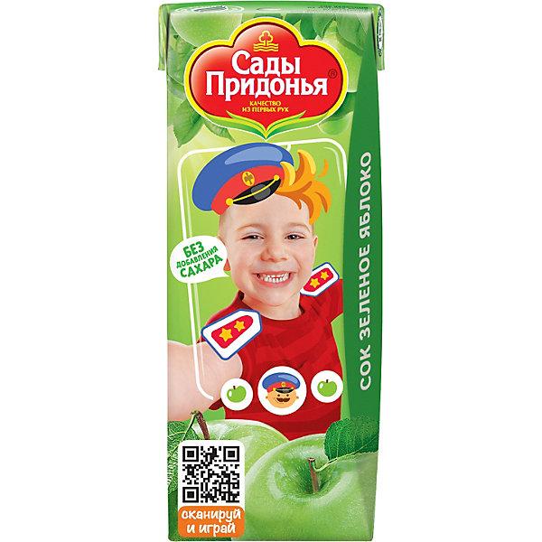 Сок Сады Придонья зелёное яблоко с 4 мес, 27 шт по 200 г