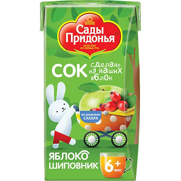 Сок Сады Придонья яблоко шиповник с 6 мес, 18 шт по 125 г
