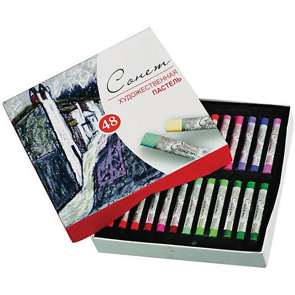 Купить Пастель художественная ЗХК Сонет, 48 цветов, Невская палитра, Китай, Унисекс