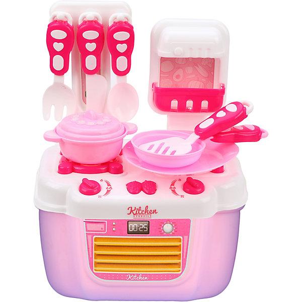 Наша Игрушка Игровой набор Наша Игрушка Плита с посудой, 21 предмет