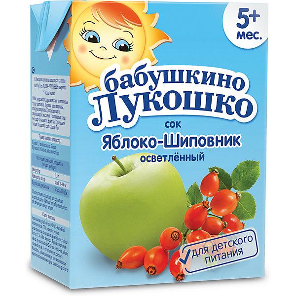 Сок Бабушкино Лукошко яблоко шиповник осветлённый, с 5 мес, 200 мл х 18 шт
