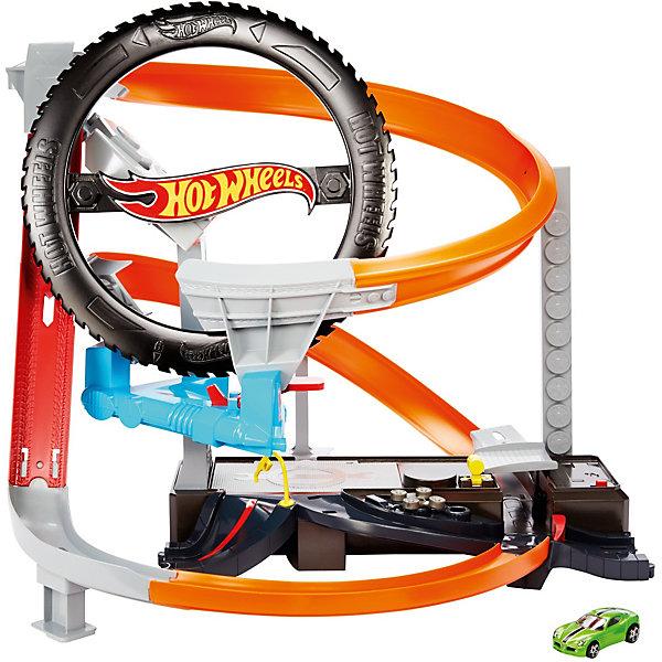 Mattel Автотрек Hot Wheels Шиномонтажная мастерская машины mattel hot wheels сити игровой набор шиномонтажная мастерская