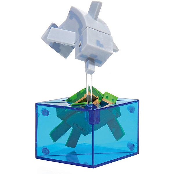 фигурка minecraft ender dragon размах крыльев 52 см Minecraft Фигурка Minecraft Adventure figures Dolphin and Turtle 4 серия, 10 см