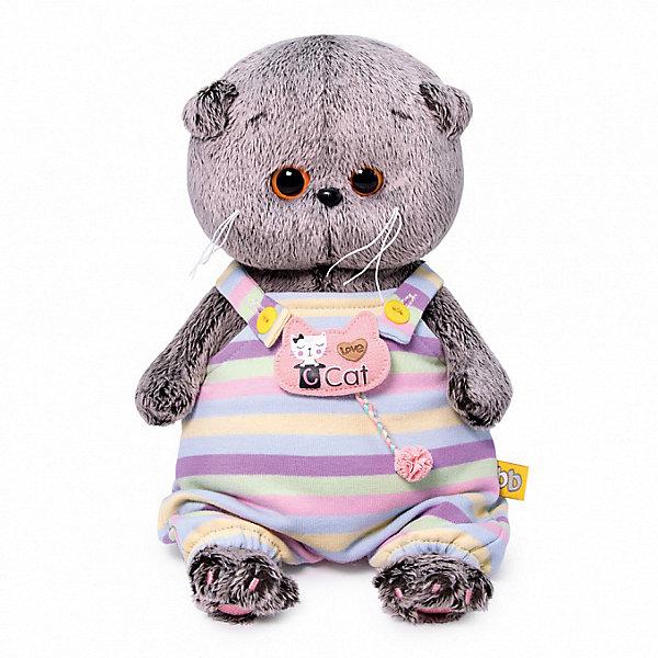 Купить Мягкая игрушка Budi Basa Кот Басик Baby в полосатом комбинезончике, 20 см, Россия, коричневый, Унисекс