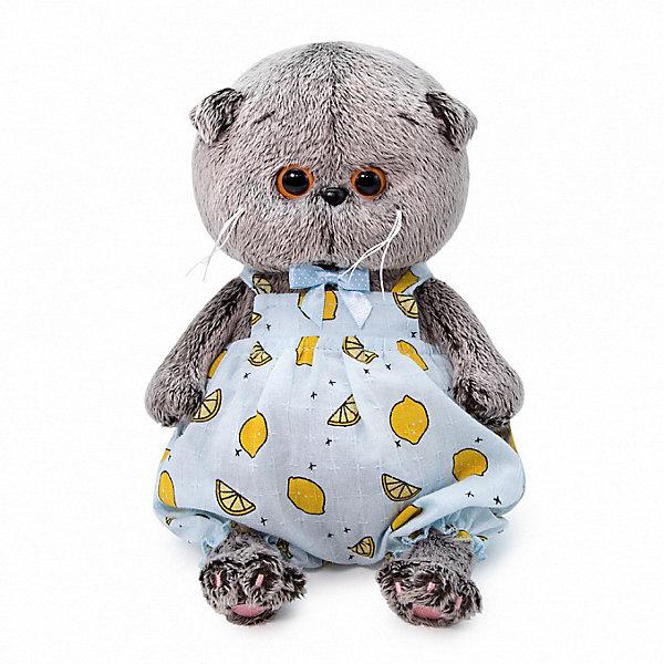 Купить Мягкая игрушка Budi Basa Кот Басик Baby в песочнике с лимонами, 20 см, Россия, коричневый, Унисекс