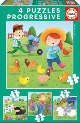 Educa Пазл Educa Животные на ферме, 6-9-12-16 деталей