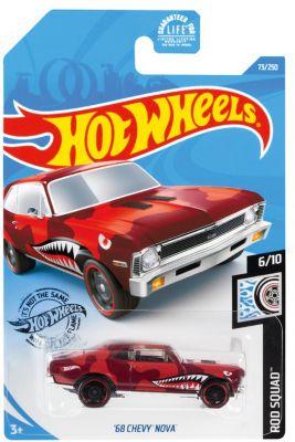 Hot Wheels Базовая машинка Hot Wheels 68 Chevy Nova mattel базовая машинка hot wheels 91 gmc syclone