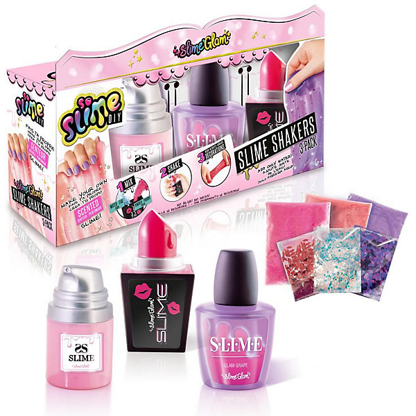 Купить Набор для изготовления слайма Canal Toys So Slime Diy Slime Glam Косметика , 3 цвета, Китай, разноцветный, Унисекс