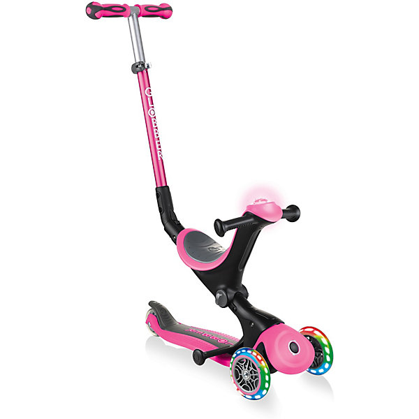 Купить Самокат-трансформер Globber Go Up Deluxe Play Lights 3 в 1, розовый, Китай, Женский