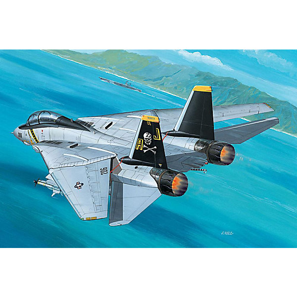 Истребитель F-14A Tomcat (1/144)Самолеты и вертолеты<br>Характеристики товара:<br><br>• возраст: от 10 лет;<br>• масштаб: 1:144;<br>• количество деталей: 49 шт;<br>• материал: пластик; <br>• клей и краски в комплект не входят;<br>• длина модели: 13,4 см;<br>• размах крыльев: 13 см;<br>• бренд, страна бренда: Revell (Ревел), Германия;<br>• страна-изготовитель: Польша.<br><br>Модель для сборки «Истребитель F-14A Tomcat» поможет вам и вашему ребенку придумать увлекательное занятие на долгое время и весело провести свой досуг. Модификация F-14A является двухместным всепогодным истребителем-перехватчиком.<br><br>В набор входят 49 пластиковых деталей, которые помогут воссоздать истребитель. Детали можно собрать и без помощи клея, на защелки, согласно инструкции. Готовый истребитель украсит стол или книжную полку ребенка. Краски и клей в комплект не входят.<br><br>Процесс сборки развивает интеллектуальные и инструментальные способности, воображение и конструктивное мышление, а также прививает практические навыки работы со схемами и чертежами.<br> <br>Модель для сборки «Истребитель F-14A Tomcat», 49 дет., Revell (Ревел) можно купить в нашем интернет-магазине.<br>Ширина мм: 132; Глубина мм: 34; Высота мм: 207; Вес г: 100; Возраст от месяцев: 72; Возраст до месяцев: 1164; Пол: Мужской; Возраст: Детский; SKU: 1649419;