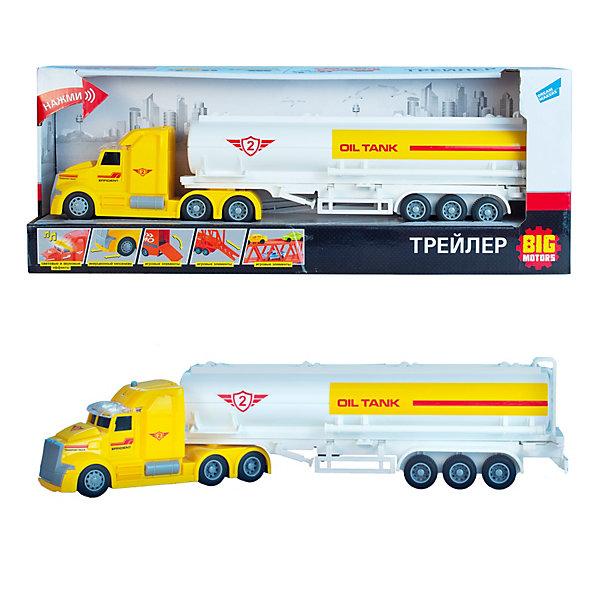 Big motors Трейлер Big motors Нефтяной грузовик, 36х5х8 см, свет, звук