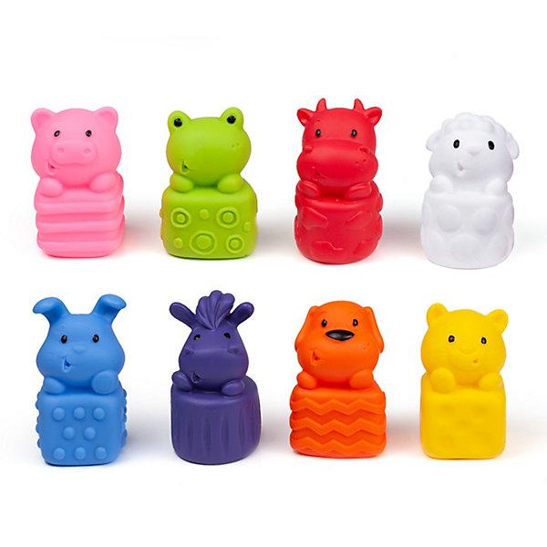 Купить Набор игрушек для ванны Fancy Baby Трогательные зверята, 8 шт, Беларусь, разноцветный, Унисекс