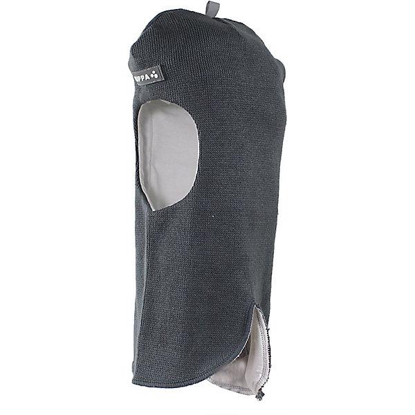 Купить Шапка-шлем HUPPA, Китай, серый, 55-57, 47-49, 51-53, Мужской