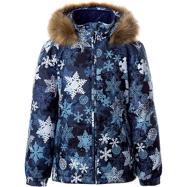 Купить Утепленная куртка Huppa Marii, Китай, темно-синий, 140, 110, 116, 122, 128, 134, Женский